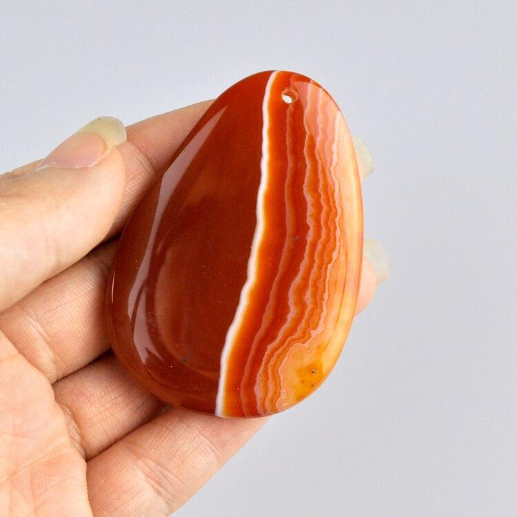 Orange Natural Stone Pendant