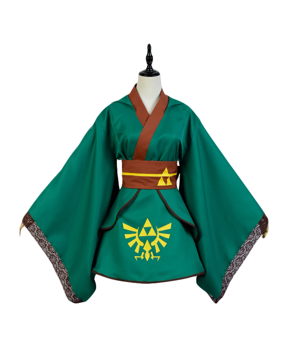 The Legend of Zelda Female Link COSplay Costume Outfit Suit Girl Version Dress For Women Full