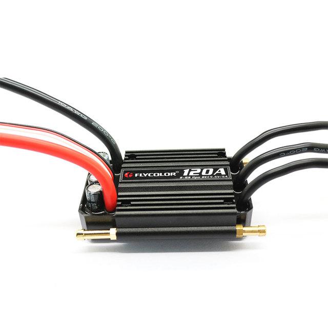 120A Brushless BEC ESC Controlador Electrónico de Agua Modelo de Barco RC Barcos