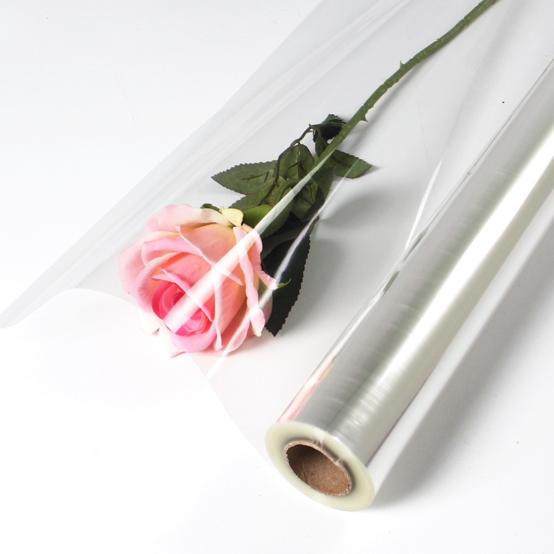 0 6mx50m Clear Cellophane Wrap Roll Transparent Opp Plastic Wraps Flower Fruit Basket Gift Packing Paper Material
