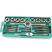 hot deal buy  20pcs/sets metal dies die cutting tap dies set 1/16''--1/2'' nc screw thread plugs taps carbon steel hand screw taps hand tools