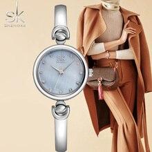 SK Reloj Mujer Mode Bracelet Montres Marque Femme Genève Quartz Montre Horloge Étanche Filles Cadeau Montre-Bracelet 2017