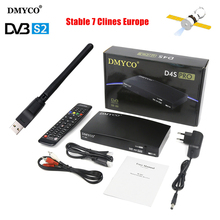 D4S PRO Satellite Receiver DVB-S2 HD FTA Satellite TV Receptor D4Spro TV Tuner MPEG-5 with USB WIFI 1 YEAR BEST Europe clines