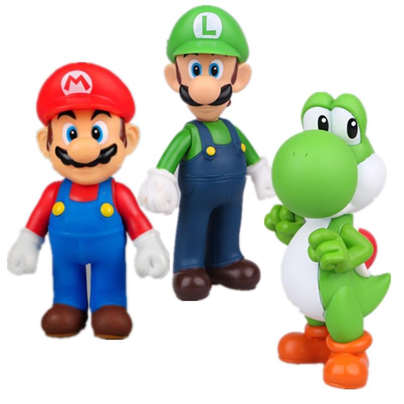 3pcs Super Mario Bros Luigi...