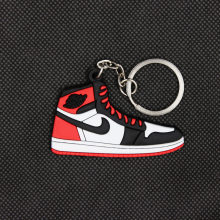 Mini AJ1 key pendant classic color Jordan 1 generation sneakers key chain custom aj keychain basketball shoes key Ring For Men(China)