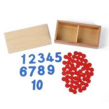 Juguete del bebé de Tarjetas y Contadores Número Matemáticas para La Educación Preescolar Montessori Preescolar Juguetes Para Niños Brinquedos juguetes de Formación