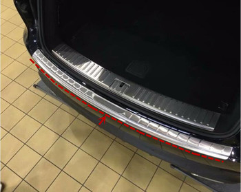 Stainless Steel Car Rear Trunk Door Protector Trunk Sill Scuff Plate  Fits For Porsche Cayenne 2018 2019 2020