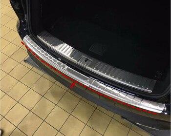 Stainless Steel Mobil Belakang Pintu Pelindung Trunk Sill Lecet Lecet Plate Cocok untuk Porsche Cayenne 2018 2019 2020