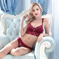 Francés de La Moda Sexy Conjunto Sujetador de Encaje Mujeres Ultrafino Bordado Bombshell Bra Y Panty Set Ropa Interior Conjunto de Lencería