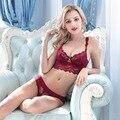 Francês Moda Sexy Lace Bra Set Mulheres Bombshell Ultrafino Bordados Bras E Panty Set Underwear Conjunto de Lingerie