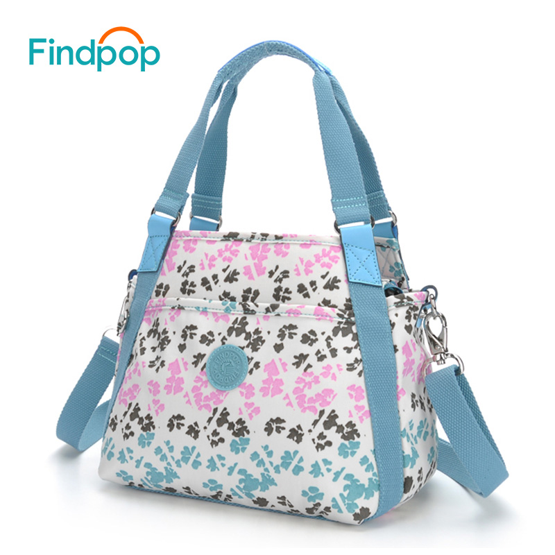 Findpop New Floral Print Handbags Women Crossbody Bags 2018 Fashion Nylon Shell Ladies Tote Bag Waterproof Casual Crossbody Bags findpop floral printing handbag fashion waterproof nylon crossbody bag for women 2017 large capacity casual shell top handle bag