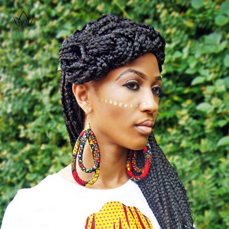 2019 African Cloth Fabric Earrings Handmade Earrings With Tassels For Women African Print Ankara Big Oversized Earrings WYB144