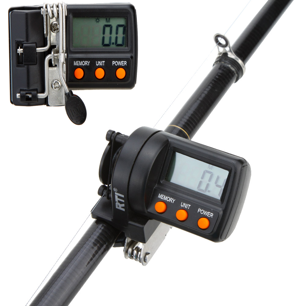999.9m Digital Display Fishing Line Counter for Fishing Electronic Feeder Pesca Line Depth Finder Counter Fishing tackle Lexus RX