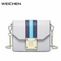 Simple Blue Stripe Women Shoulder Bag Fashion Lock Women S Messenger Bags White Ladies Crossbody Bags