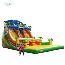 Inflatable Biggors Palm Tree Inflatable Jumping Bouncer Slide Inflatable Dry Slide For Sale