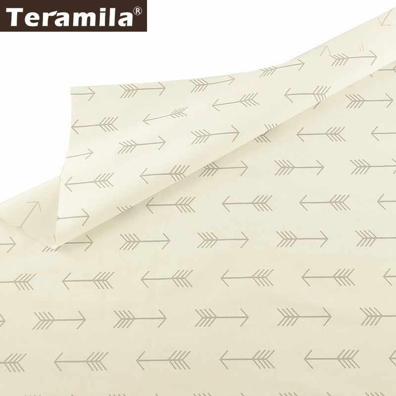 Teramila 100% medidores de tecido de algodão, design em flecha, tecido têxtil, faça você mesmo