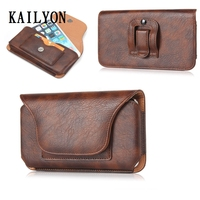 Luxury Genuine Leather Men Waist Bag Clip Belt Pouch Holster Case For Samsung Galaxy A3 A5