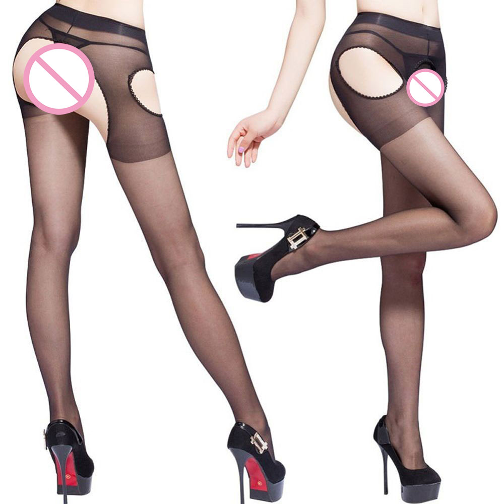 Popular Open Crotch Sexy Women Long Pantyhose Stocking Tights