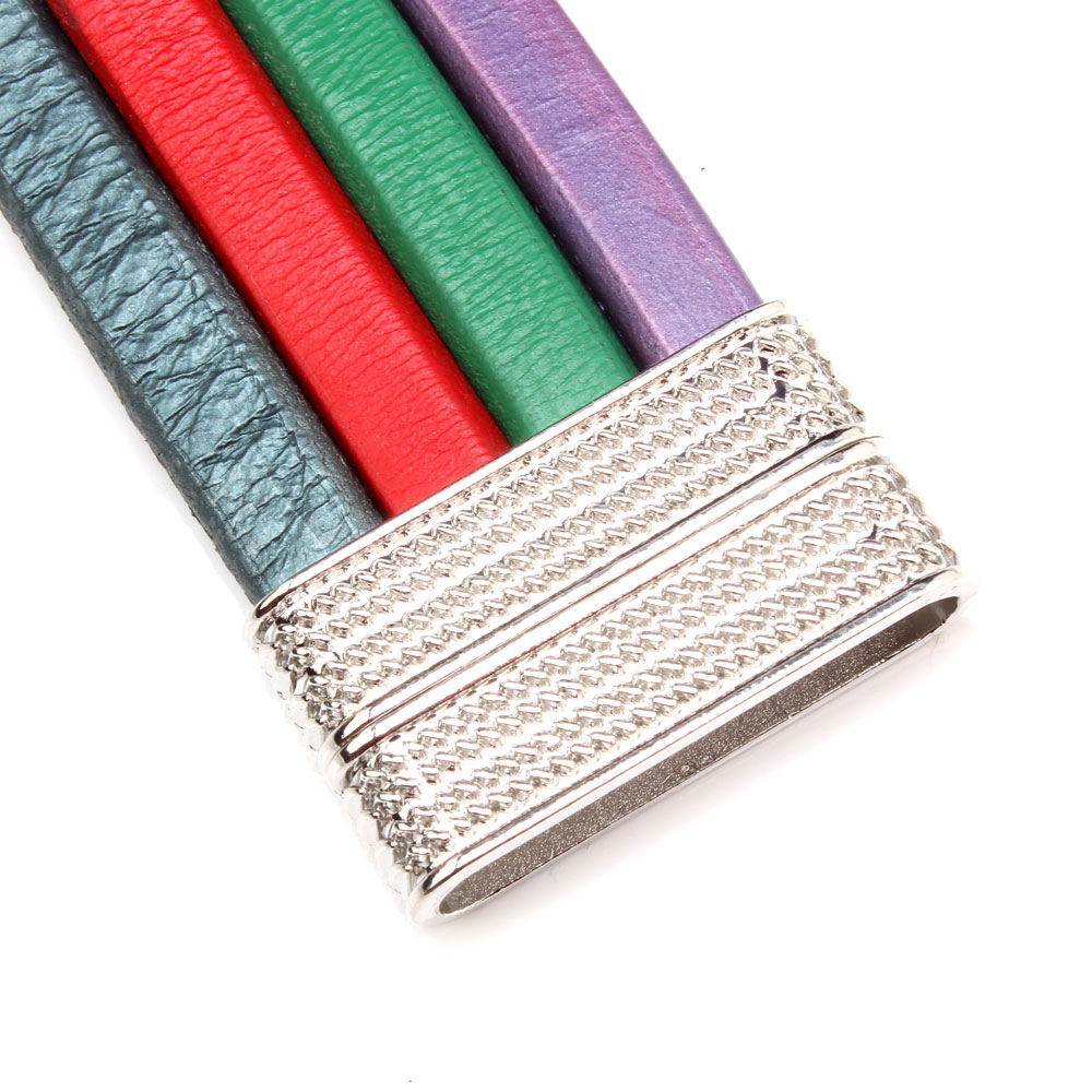 OlingArt inside dia 40 8mm 1Pcs lot magnetic Leather clasps Double sided use Jewelry making DIY cord bracelet Belt Necklace in Jewelry Findings Components from Jewelry Accessories