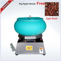 Jewelry Tools and Equipment Vibratory Tumbler Large Capacity 2500 rpm jewelry Polishing machine 1kg agate Beads free