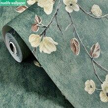Papel tapiz Vintage verde jardín americano campo jardín restaurante dormitorio Sala TV fondo de pared