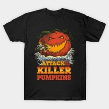 06d475edb Printed Men T Shirt Attack of the Killer Pumpkin Attack Of The Killer  Tomatoes Women T