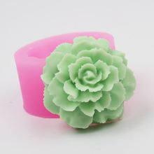 3D flower shape cake decorative mould soap making silicone mold