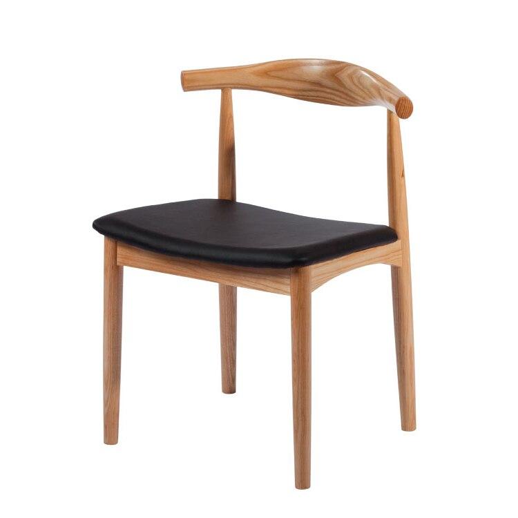 muebles de comedor de madera maciza elbow silla minimalista moderna silla de comedor de madera de