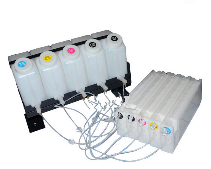 Free DHL  CISS ink system Bulk ink system with ARC chip decoder use for Epson Surecolor T3200 T5200 T7200 wide format printer 6 color mg7770 ciss bulk ink supply system for canon printer pgi770 pgi771 770 cartridge with arc chip