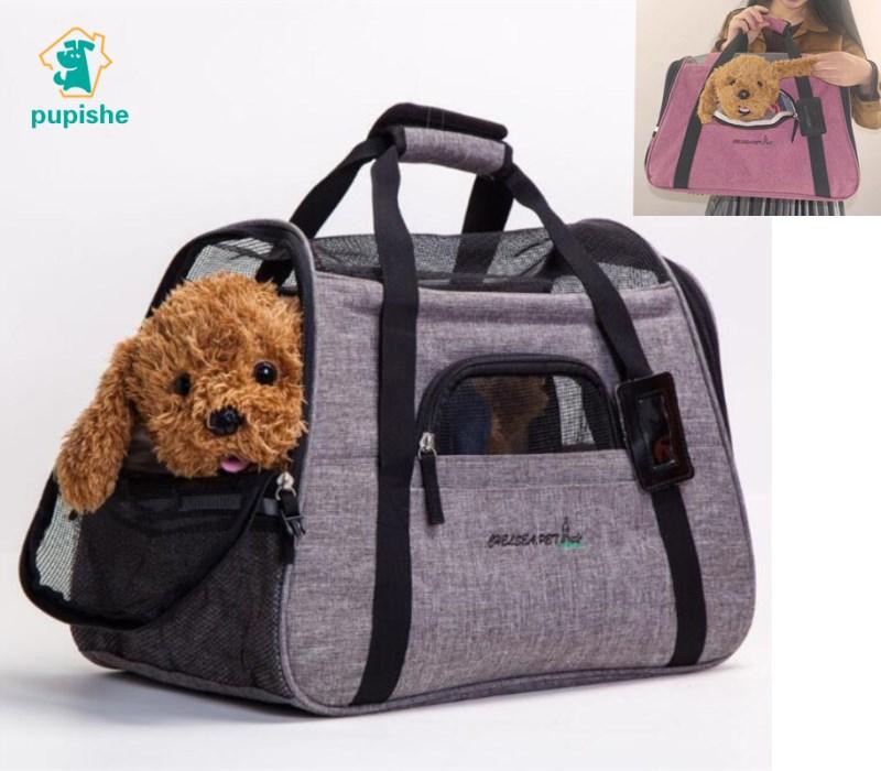 PUPISHE 2018 Dog Travel Carrier Bags 6 Colors Portable Tote Shoulder Dog Bags Carrier for Dog