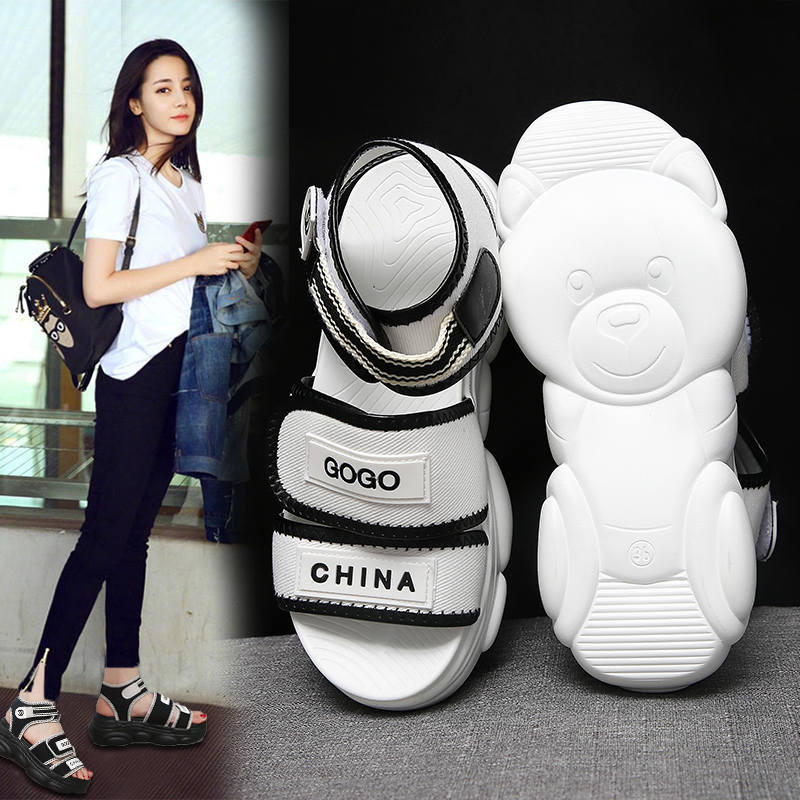 Outdoor Platform Women Bear Sport Sandals Summer Beach Shoes Woman Sandalias Breathable Thick Sole Mujer Casual Footwear 39 40