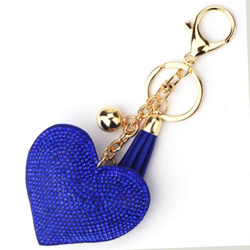 2018 Романтический Полный со стразами сердце брелок золотая цепочка брелок сумка автомобиль висит кулон ювелирные изделия KH-999