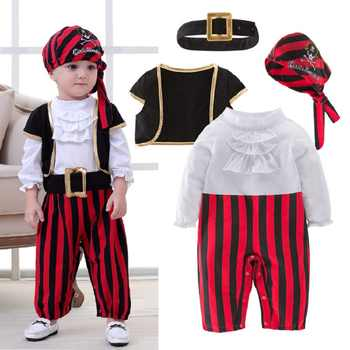 Pirate Captain Cosplay Costume Baby Romper Boys Bodysuits Christmas Fancy Clothes Halloween Costumes Kids Children Jumpsuits - DISCOUNT ITEM  0% OFF All Category