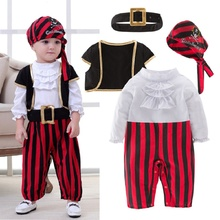 Pirate Captain Cosplay Costume Baby Romper Boys Bodysuits Ch