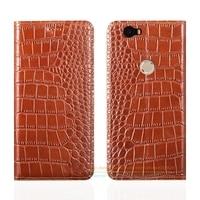 Crocodile Grain Genuine Leather Case For Huawei Google Nexus 6P 5 7 Luxury Mobile Phone Cover