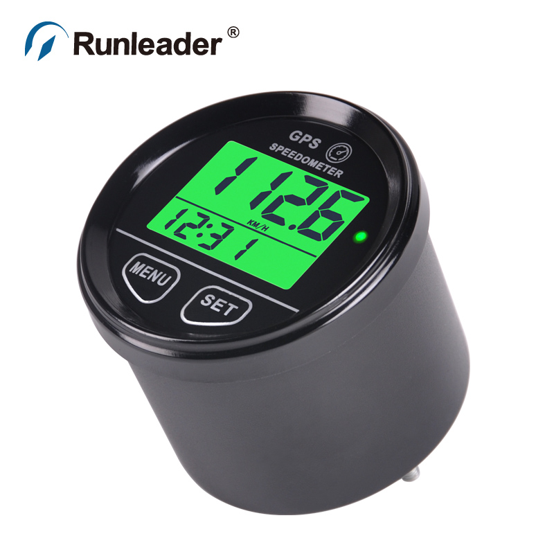 Runleader Waterproof Digital GPS Speed Meter Green Backlight SM001 Speed Counter For ATV UTV Motorcycle Automobile motor vehicle