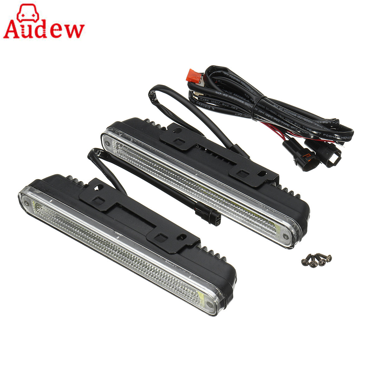 2Pcs Universal Car Daytime Running Light LED COB 12V DRL Auto Driving Front Fog Lamp White Bulb Waterproof 6000K 9005 hb3 55w halogen bulb super white headlight fog car lamp daytime running drl auto head light 5000k 12v