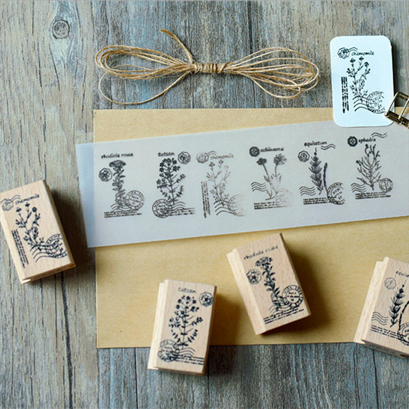Retro postmark plant Gift stamp DIY wooden rubber stamps for scrapbooking stationery scrapbooking standard stamp retro postmark plant gift stamp diy wooden rubber stamps for scrapbooking stationery scrapbooking standard stamp