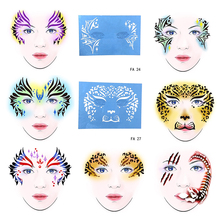 OPHIR Face Template Reusable Face Painting Stencil for Party Temporary Tattoo Template Body Painting Stencil 7PCS FA(23-29) 90 90 dh82hm86 sr17e dh82hm87 sr17d dh82qm87 sr17c sr13h sr13j stencil template