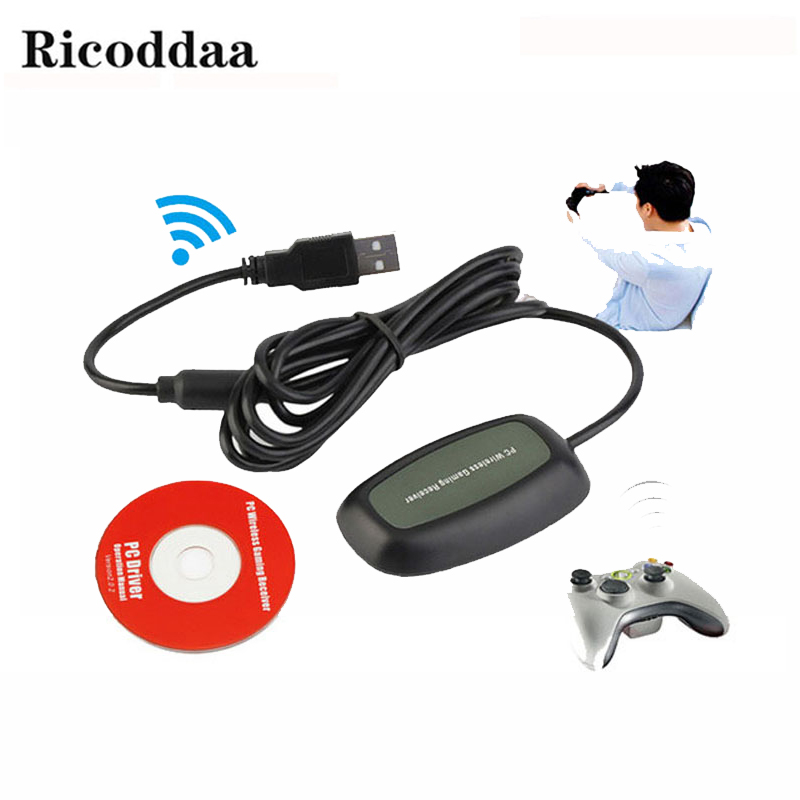 For Xbox 360 Wireless Controller Gaming USB Receiver Adapter For Microsoft XBOX 360 For Windows 7/8 Game Accessorie беспроводной геймпад microsoft xbox 360 wireless controller for windows jr9 00010