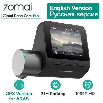 Xiaomi 70mai Pro Dash Cam Full HD 1944 P автомобильная камера рекордер gps ADAS 70 mai Wifi Dvr автомобильный 24 H монитор парковки 140FOV ночного видения >> ENKLOV Online Store