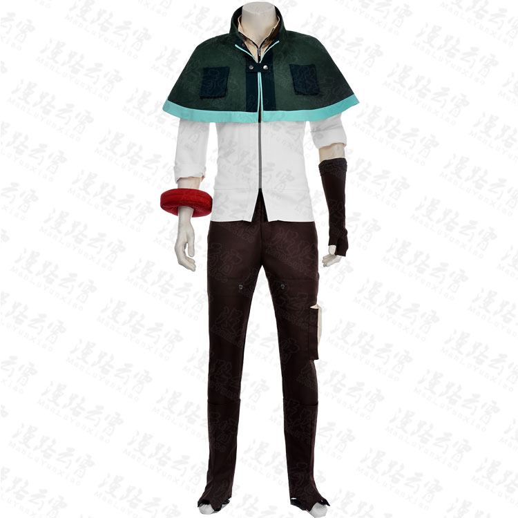 GOD EATER Utsugi Renka Cosplay Costume Cape Top Pants font b Shoes b font Cover Glove