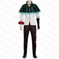GOD EATER Utsugi Renka Cosplay Costume Cape+Top+Pants+Shoes Cover+Glove+Red circle
