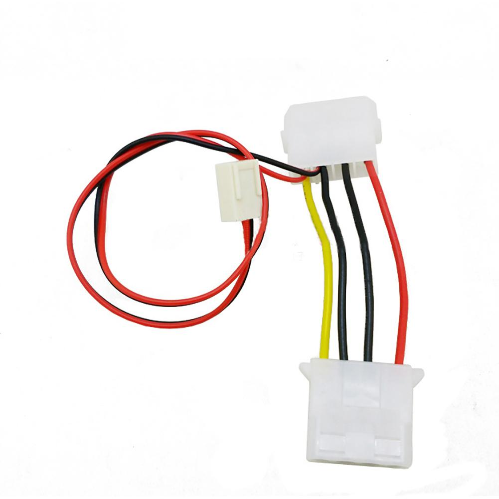 26cm Computer 3 Pin Female To 4 Pin PC Fan Power Transform Cable Extension Wire