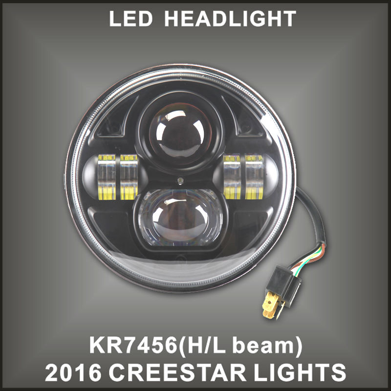 ФОТО 7 INCH MOTORCYCLE PROJECTOR DAYMAKER LED LIGHT HID BULB HEADLIGHT For Harley NEW