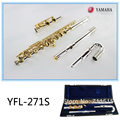 Professional Concert Flute YFL-271S Gold Plated Woodwind Instruments Flute 16 Hole C Key Student Small Elbow Silvering Flute