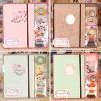 ערכת ירבוטים אלבום תמונות נייר בציר עבור בנות/נשים/משפחה/מאהב, קיפול Scrapbook