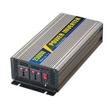 2500W Pure Sine Wave Solar Power Inverter Household Car Power Converter Charger Adapter DC 48V to AC 110V 220V