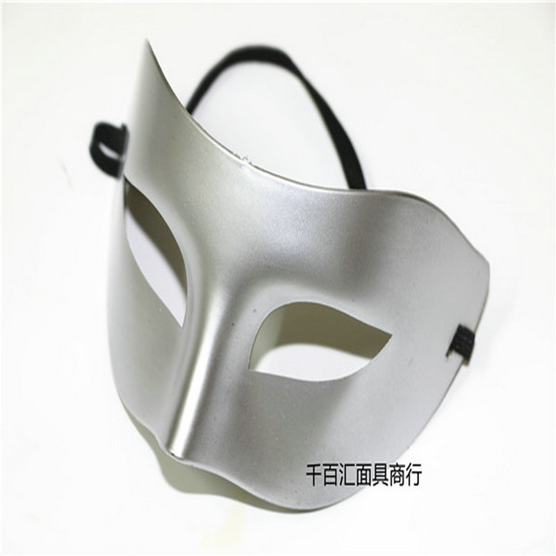 Mask Men Pingtou Zorro Half Face Men and Women\`s Dance Show Eyeshade Gold and Silver Jazz Halloween mask (2)