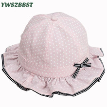 New Windproof Baby Sun Hats Girls Sun Hat Bowknot Dot Summer Children Fisherman Cap Kids Boys Sunscreen Caps Baby Bucket Hat patagonia baby sun bucket детская голубой 5t 66075
